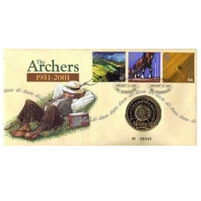2001 The Archers 50th Anniversary - Medallion Coin
